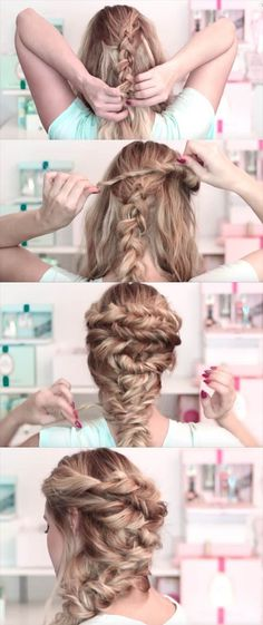 24 Beautiful Bridesmaid Hairstyles For Any Wedding - Prom hairstyles Wedding updo with braids Bridal-bridesmaid long hair tutorial - Beautiful Step by Step Tutorials and Ideas for Weddings. Awesome, Pretty How To Guide and Bridesmaids Hair Styles. Wedding Hairstyles For Long Hair, Fancy Hairstyles, Bride Hairstyles, Down Hairstyles, Bridesmaid Hairstyles, Goddess Hairstyles, Medium Hair Styles, Short Hair Styles, Braids For Medium Length Hair