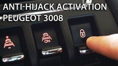 How to activate auto-locking central lock in Peugeot 3008 (enable anti hijack)