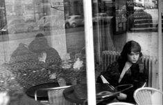 A la terrasse d'un café, boulevard Saint-Germain, Paris, 1969 by Izis.