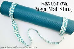 Yoga Mat - Learn how to make a quick and easy Yoga Mat Sling. - Yoga Mat by DynActive- inch Thick Premium Non Slip Eco-Friendly with Carry Strap- TPE Material The Latest Technology in Yoga- High Density Memory Foam- Non Toxic, Latex Free, PVC Free Diy Yoga Mat, Yoga Mat Bag, Yoga Matt, Yoga Strap, Yoga Gifts, Yoga Accessories, Diy Schmuck, Best Yoga, Fabric Scraps