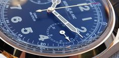 Montblanc 1858 Chronograph Tachymeter Edición Limitada calibre 16.29 detalle de la manecilla