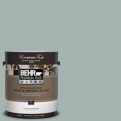 BEHR Premium Plus Ultra 1-Gal. #UL220-15 Frozen Pond Flat Exterior Paint