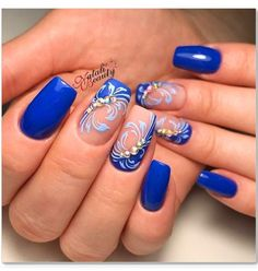 50 Winter Nail Art Designs 2019 These trendy Nails ideas would gain you amazing compliments. Check out our gallery for more ideas these are trendy this year. Blue Nail Designs, Simple Nail Art Designs, Best Nail Art Designs, Easy Nail Art, Cool Nail Art, Winter Nail Art, Winter Nails, Beautiful Nail Art, Gorgeous Nails