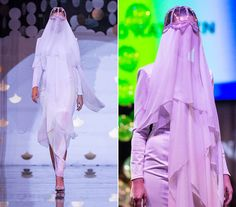 A régit és a modernet ötvözte Dobó Katalin titokzatos ruhája, melyet a keleti, lefátyolozott nők ihlettek.