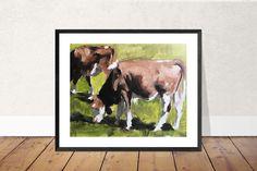 Cow Painting, Cow Art, Cow PRINT - Cow Oil Painting, Holstein Cow, Farm Animal Art, Farmhouse Art, Prints of Farm Animals, Farm Wall Art by JamesCoatesFineArt2 on Etsy Holstein Cows, Cow Painting, Cow Art, Farm Animals, Original Paintings, Moose Art, Farmhouse, Oil, Fine Art
