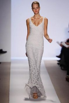 Badgley Mischka --reminiscent of Nancy Reagan's Gown By James Galanos
