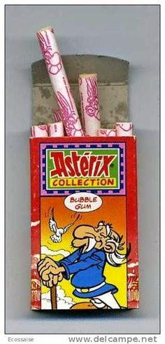 Le sigarette-chewingum di Asterix che trovavi nelle calze della Befana!