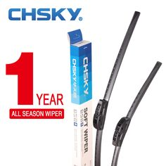 CHSKY Universal U-type Car Windshield Wiper Blade With High Quality Soft Natural Rubber 14 16 17 18 19 20 21 22 24 26 Inch #hats, #watches, #belts, #fashion, #style