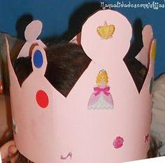 Manualidades con mis hijas - Corona de cumpleaños. Kids craft. Birthday crown