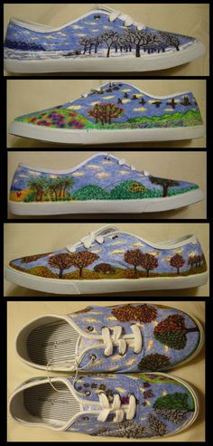 Shoes handdecorated with permanent marker Seasons by ThisIsRNation 9bf14cbbcd9e