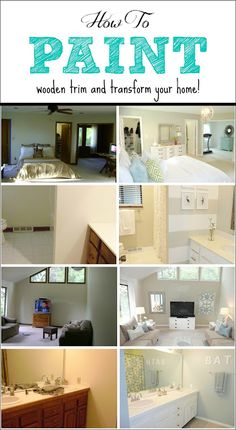 How To Paint Trim: a complete tutorial for transforming an outdated house just by using paint!  Really awesome advice and great pics! We are in the middle of updating the house and I wish I would have read this last week! Will def use going forward!