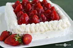 THAT Strawberry Cake :) ~ http://www.southernplate.com