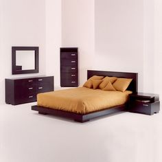 Platform Bedroom Sets King parts can add a touch of style and design to any house. Platform Bedroom Sets King can mean many issues to many people… Platform Bed Sets, King Size Platform Bed, Platform Bedroom, Modern Platform Bed, Black Bedroom Sets Queen, King Size Bedroom Sets, Queen Bedroom, King Size Bedroom Furniture, Bedroom Chest