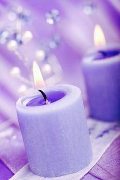 Purple candles with flames. Purple Love, Pastel Purple, All Things Purple, Shades Of Purple, Purple Rain, Light Purple, Periwinkle, Deep Purple, Violet Aesthetic