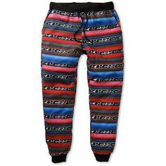 Elwood Native Tribal Stripe Skinny Jogger Pants