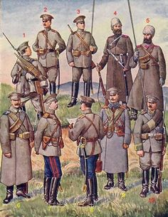 Uniforms of the Imperial Russian Army during WW1