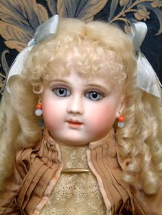 "18"" Extremely Rare Long Face Early French Schmitt Bebe Antique French Doll Circa 1879 STUNNING FACE!"