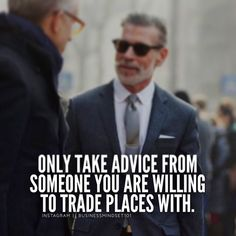 That's RIGHT!! 💯 Only take advice from people you are willing to trade places with.  #UniquetouchincCARES #ASKuniquetouchinc #Uniquetouchinc