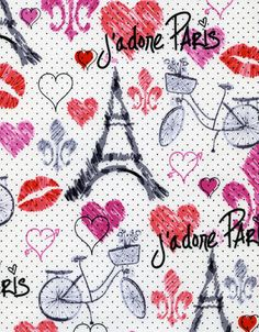 J'Adore I Love Paris TT Fabric Eiffel Tower by AllegroFabrics, $10.00