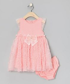 Another great find on #zulily! Pink Rosette Dress & Diaper Cover - Infant #zulilyfinds