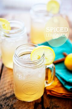 Spiced Lemonade to quench your thirst on the warm spring days to come!