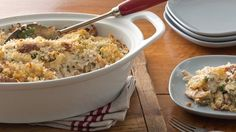 Try this deliciously creamy chicken, potato and green bean casserole. Your family will love it!