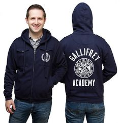 This Gallifrey Academy Zip-Up Hoodie will keep you warm sure, but it also makes it look as if you attended school with the Doctor.  It is a full-zip hoodie with 4 pockets, an embroidered chest pocket and a sleeve patch. It is stylish and just the right amount of geeky. It is 80% cotton and 20%