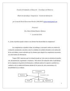 Escuela de Graduados en Educación – Tecnológico de Monterrey   Objeto de Aprendizaje: Competencia – Gestión de Información ...