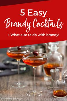 There's a lot to do with a bottle of brandy including some very tasty sauce for Christmas pudding and great cocktails to enjoy after the meal Brandy Cocktails, Whiskey Cocktails, Easy Cocktails, Fun Drinks, Brandy Recipe, Brandy Sauce, Savory Sauce Recipe, Alcohol Recipes, Recipes