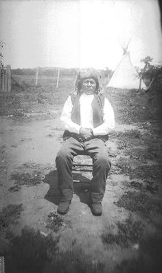 Pedro (aka Belo Cozad) - Carrizo - 1891 {Note: This Carrizo man is said to have been taken captive by the Kiowa at some point, and was living with the Kiowa in Oklahoma when the photo was taken.}
