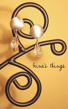 Silver 925 earrings and cristallo di rocca