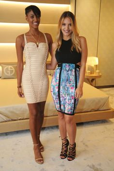 Models wearing Bodycon dresses perfect for night out, date night style, cocktail dresses. Summer fashion
