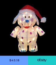 Rudolph 18 3D Pre-Lit LED Soft Tinsel Misfit Elephant Santa Hat Stake  Sculpture Misfit c5deb7ef59cb
