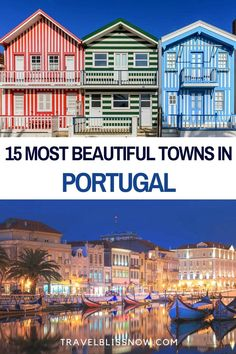 The Most Beautiful Towns in Portugal You Can't Miss if you want to experience the real Portugal | Prettiest towns in Portugal | Fishing villages in Portugal | Hilltop towns in Portugal | The Best towns in Portugal | Best places to stay in Portugal | Beautiful places in Portugal | Portugal towns | Off the beaten path in Portugal #Portugal #towns #travelblissnow Places In Portugal, Visit Portugal, Portugal Travel, Spain And Portugal, Europe Travel Guide, Europe Destinations, Amazing Destinations, Backpacking Europe, Travel Guides