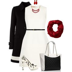 """It Is All Black and White at Work Today! Work Outfit"" by rleveryday on Polyvore"