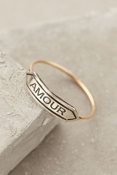 Amour Banner Ring Anthropologie $228