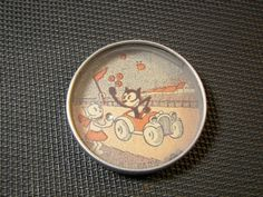 Rare French Tin Dexterity Game Felix The Cat 1930s Geduldspiele #2
