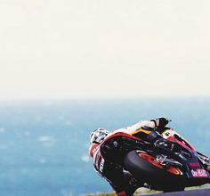 Dani Pedrosa crests the rise at Lukey Heights Philip Island