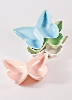 Gisela Graham Ceramic Butterfly Dishes