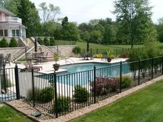Landscaping Ideas Pool Area divine simple landscaping design ideas for nice above ground pool area and lawn with small kids Again If We Decide To Get A Pool Use High Fencing To Separate