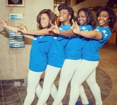 Sorors of Chi Lambda Chapter, Rochester Institute of Technology. Spring 2014