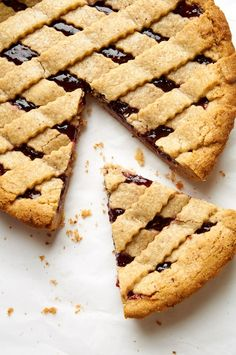 "ibakeheshoots: ""peanut butter & jelly linzer torte…it's like a hot PB&J with a cookie crust. I bake he shoots "" Sweet Pie, Dessert Recipes, Desserts, Drink Recipes, Almond Recipes, Food Processor Recipes, Biscotti, Peanut Butter, Sweet Tooth"