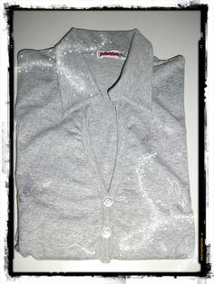 Maglia a maniche lunghe   color grigio melange  taglia M  modello sagomato  92% cotone, 8% elastam  NUOVA MAI INDOSSATA