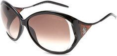 Roberto Cavalli Womens RC573SSW01F Oval Acetate Wrap Sunglasses,Black Frame/Brown Lens,One Size Roberto Cavalli. $268.95. Save 32% Off!