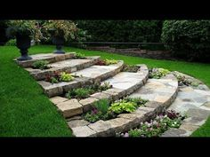 Awesome Sloped Backyard Landscaping Ideas How To Landscape a Sloping Backyard Awesome sloped backyard landscaping ideas. While a house in a hilly area comes with a promise of stunning panoramic vie… Backyard ideas Awesome Sloped Backyard Landscaping Ideas Backyard Garden, Backyard Landscaping, Diy Garden, Outdoor Gardens, Front Yard Landscaping, Garden Paths, Urban Garden, Garden Steps, Garden