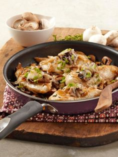 """Mushroom """"Bruschetta"""" Chicken Skillet — Serve this recipe with a mixed green salad for dinner tonight. Sure to be a weeknight favorite in your home!"""