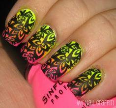 BM stamping over neon gradient. :)