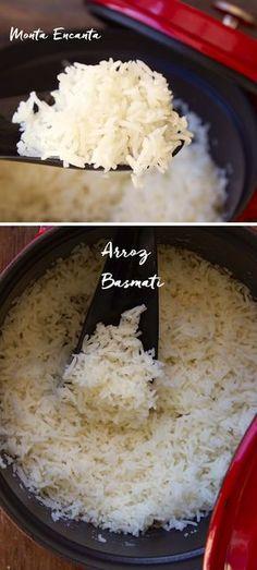 Como fazer Arroz Basmati. Grãos longos que ficam ainda mais compridos quando cozidos. Tem sabor meio amendoado e é muito aromático.