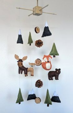 Excited to share the latest addition to my #etsy shop: Woodland Animal Baby Mobile || Mountain Baby Mobile || Woodland Nursery || Baby Boy Mobile || Felt Mobile || Woodland Mobile |Woodland decor #babyshower #mothersday #boymobile #woodlandmobile #woodlandanimals #feltbabymobile http://etsy.me/2FYTp71