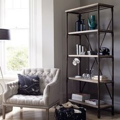 need to find a cheap industrial looking bookshelf like this one.